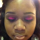 pink with a slight smokey look