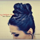 How to:  Takes-Forever Braid Sock Bun Tutorial |  Never-Ending, Waterfall Braided French Braid.