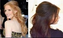 Jessica Chastain Oscars Curled Half Updo Hair Tutorial