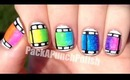Colorful Film Strip Nail Art Tutorial