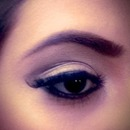 brown light smokey eyes
