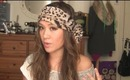 How to tie Boho head scarf tutorial
