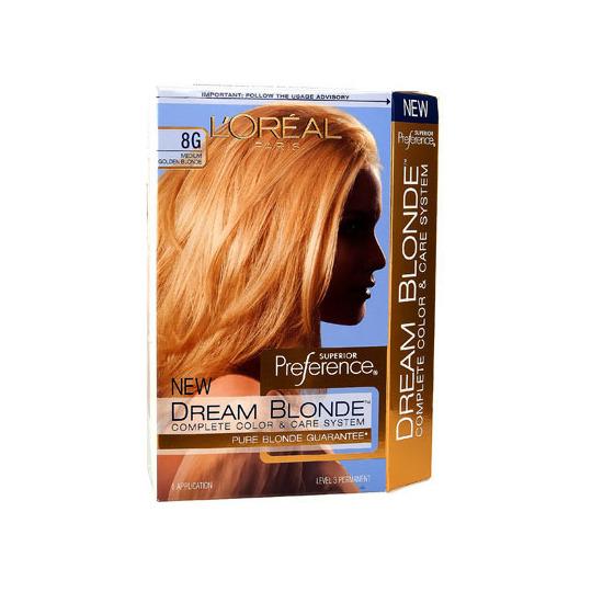 lor233al dream blonde hair color medium golden blonde 8g