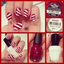 Candy Cane Holiday Nails