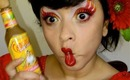 Cholula hot sauce inspired makeup for Hispanic heritage month