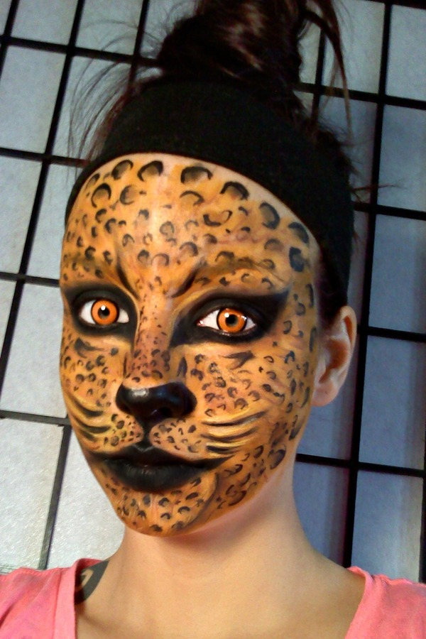 Leopard Print Paint On Face