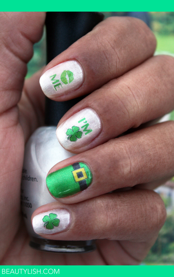 Kiss me - i'm irish - st. pattys day nail art decals | Shelby R.'s ...