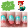 Ariel Inspired Nails