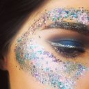 Mermaid glitter makeup!