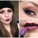 Smokey Eyes and Purple Lips
