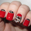 Sassy and Classy Red Leopard Half Moons
