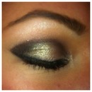 Bronze eye look