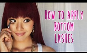 How to Apply Bottom Lashes