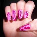 Double Pink water marble