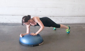 Six Minutes, Three Exercises: Bosu Ball Routine Part 1