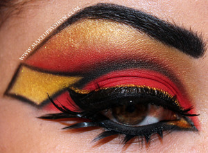 Spider-Woman (Jessica Drew) Inspired EOTD!  More pics and products used:  http://makeupbysiryn.com/2012/10/17/halloween-series-spider-woman-jessica-drew-inspired-eotd/
