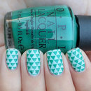 Triangle Stamped Nails