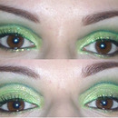 Green Glitter Cut Crease