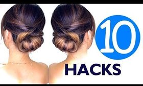 ★ 10 LAZY Girls Hair ROUTINE HACKS & Hairstyles | SUMMER Hairstyle EASY!