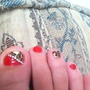 Leopard and red toes