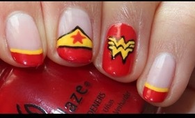 DC Comic Series: Wonder Woman Nail Tutorial
