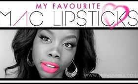 My Favourite MAC Lipsticks | Epiphannie A