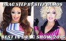 BEST IN DRAG 2015 BEHIND THE SCENES | DRAG MAKEUP STEP BY STEP ON 2 DIFFERENT QUEENS- mathias4makeup