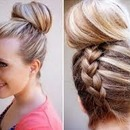 Upside-Down Dutch-French-Braid Into A Bun!