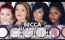 Becca Shimmering Skin Perfector Pressed Tutorial/Review + Swatches | Best Highlighters