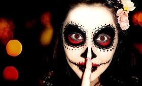 Easy Sugar Skull Makeup Tutorial for #Halloween2015