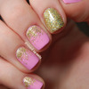 Pink & gold glitter gradients