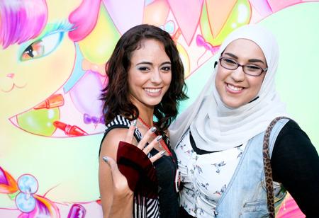 Posing at Beautylish IMATS LA event