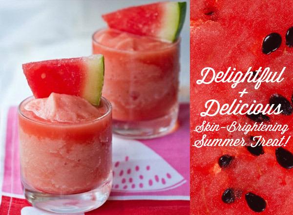 skin brightening watermelon mocktail