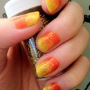 Ombre Fiery Nails