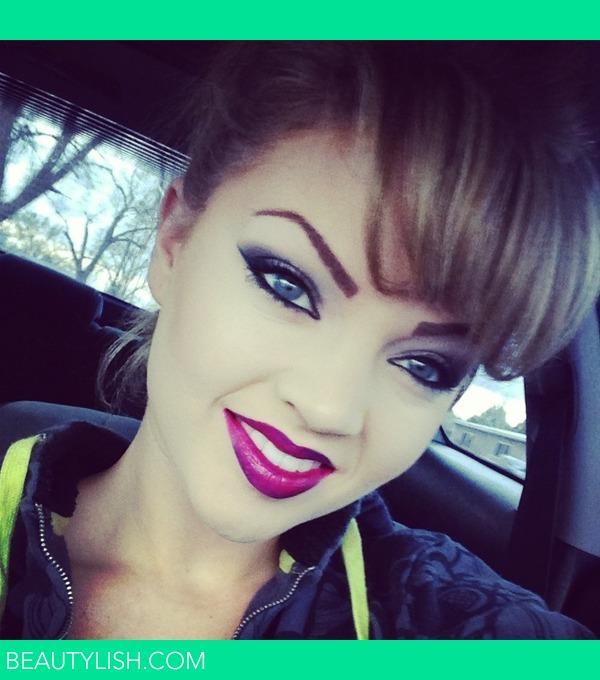 smokey eyes purple lipsCovergirl Embrace Lipstick