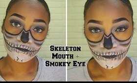Halloween Scream Queen || Skeleton Mouth + Smokey Eye