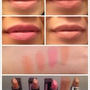 Nude lips swatches