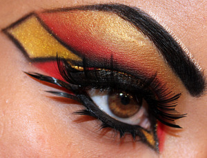This look is inspired by the super heroine, Spider-Woman (Jessica Drew version)!