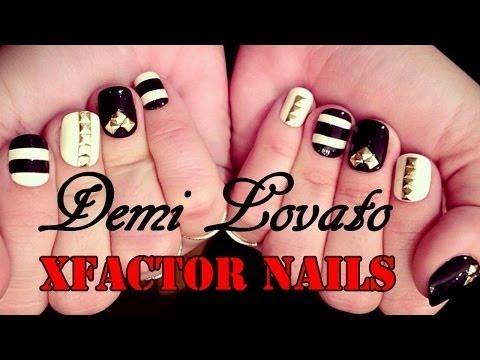 Demi Lovato XFactor inspired nails | Tutorial | StaceysNailCandies