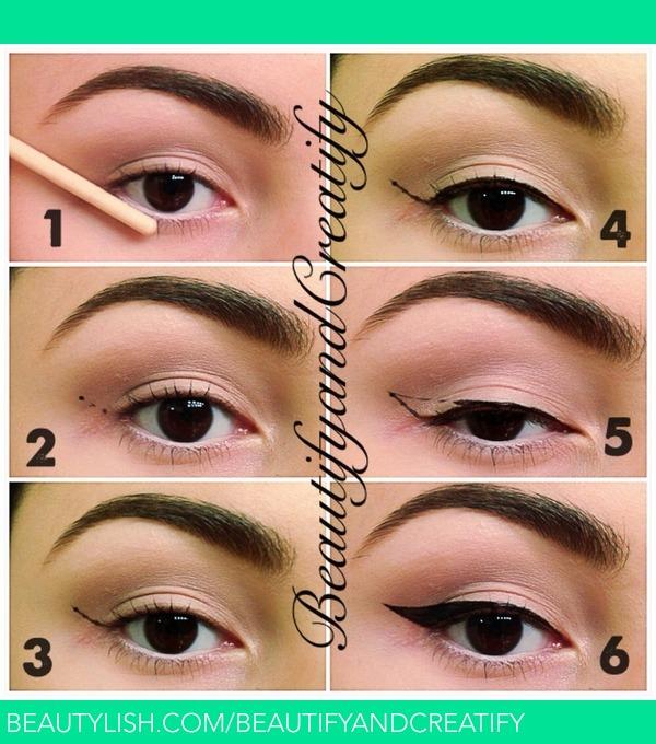 Eye liner makeup