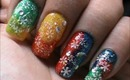 Magic nails- Colorful Glitter - easy nail art for short nails- nail art tutorial- beginners designs