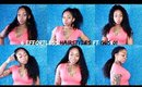How I Style BOX BRAIDS | 6 Quick & Easy Hairstyles  in 5 Minutes ! ft FNH GLS01