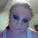 Electric Blue Winged Smokey Eye!