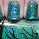 Mermaid nails with Cult Nails and Sinful glitters.