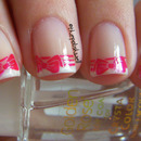 Cute french tip with bows
