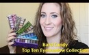 Hard Candy Top Ten Eyeshadow Collection - Overview & Swatches