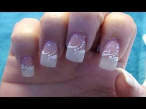 wedding elegant american manicure nail design