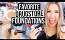 Beginner Makeup Guide || DRUGSTORE FOUNDATIONS FAVES