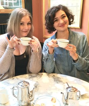 Coffee at La Glace in Copenhagen with the lovely Sabrina K! Xxxx