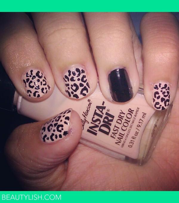 Pink and Black Cheetah Print Nails | Adrianne Rae P.'s ...